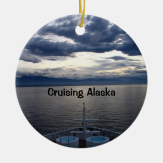 Cruising Alaska Christmas Ornament