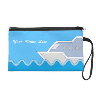 Cruising Along Personalized Name Wristlet Clutches
