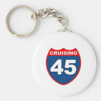 Cruising at 45 key ring