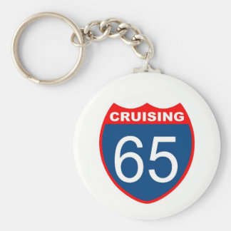 Cruising at 65 key ring