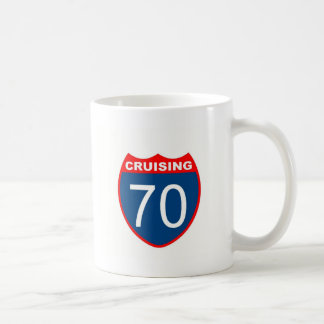 Cruising at 70 coffee mug