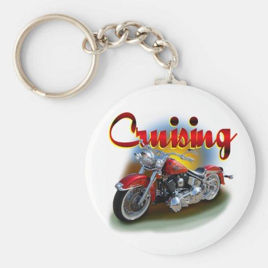 Cruising bike basic round button key ring
