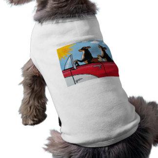 Cruising Dogs Wearable Art for Dogs Sleeveless Dog Shirt