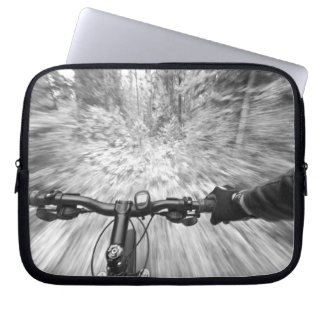 Cruising down a buff section of singletrack 2 laptop sleeve