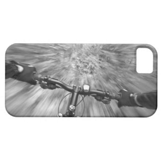 Cruising down a buff section of singletrack iPhone 5 cases