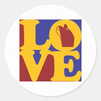 Cruising Love Round Sticker