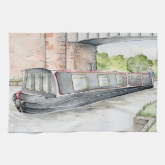 """Cruising on the Cut"" Narrowboat Tea Towel"
