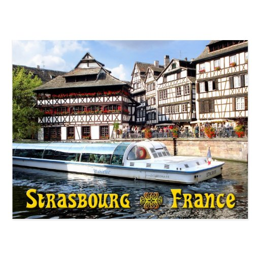 Cruising on the River Ill in Strasbourg, France Post Cards