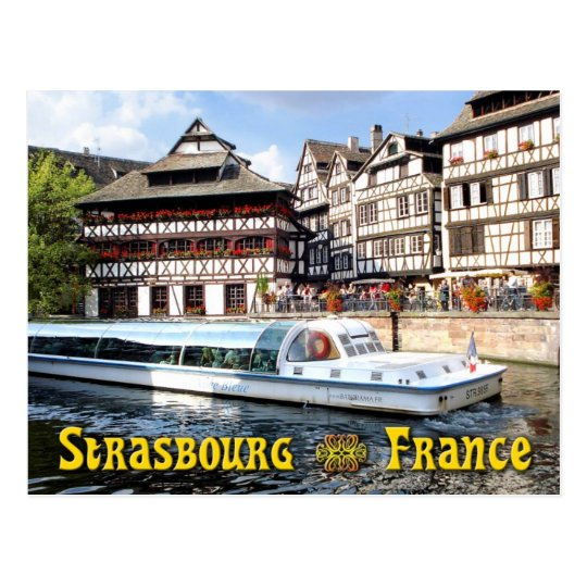 Cruising on the River Ill in Strasbourg, France