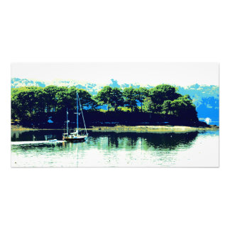 cruising sailboat photo print