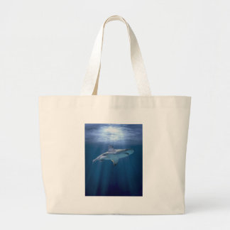 Cruising Shark Large Tote Bag