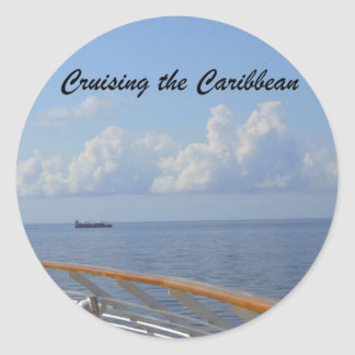 Cruising the Caribbean Classic Round Sticker
