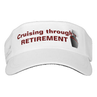 Cruising Through Retirement Red Visor