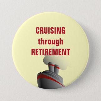 Cruising Through Retirement Yellow 7.5 Cm Round Badge