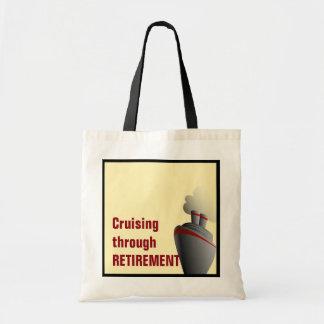 Cruising Through Retirement Yellow Budget Tote Bag