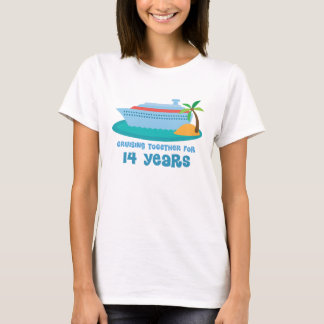 Cruising Together For 14 Years Anniversary Gift T-Shirt