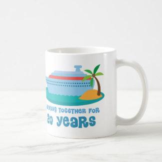 Cruising Together For 20 Years Anniversary Gift Basic White Mug