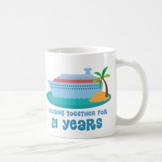 Cruising Together For 21 Years Anniversary Gift Coffee Mug