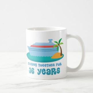 Cruising Together For 36 Years Anniversary Gift Basic White Mug