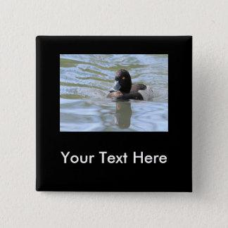 Cruising Tufted Duck 15 Cm Square Badge