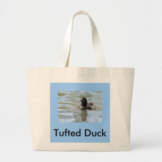 Cruising Tufted Duck Large Tote Bag