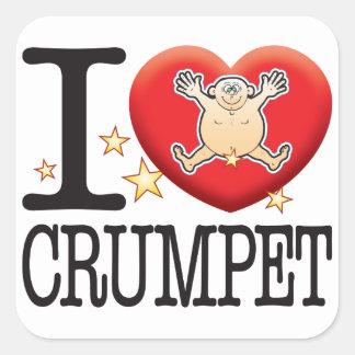 Crumpet Love Man Square Sticker