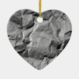 crumpled ceramic heart decoration