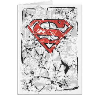 Crumpled Comic Superman Logo Greeting Cards