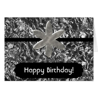 Crumpled Foil Birthday Card