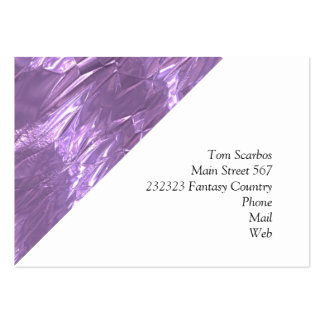 crumpled foil lilac pack of chubby business cards