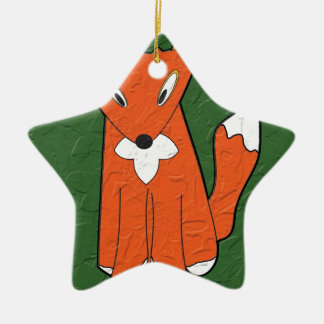 Crumpled Fox Christmas Ornament