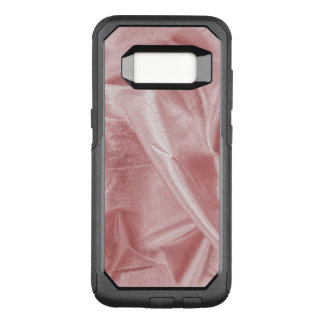 Crumpled Girly Faux Pink Lame' Metallic Fabric OtterBox Commuter Samsung Galaxy S8 Case