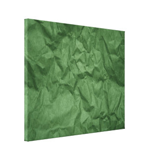 Crumpled Green Paper Texture Wrapped Canvas Gallery Wrap Canvas