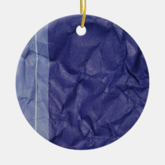 Crumpled indigo paper background design christmas ornament