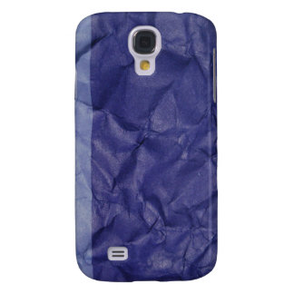 Crumpled indigo paper background design galaxy s4 case