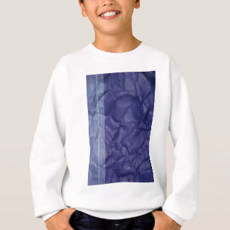 Crumpled indigo paper background design sweatshirt