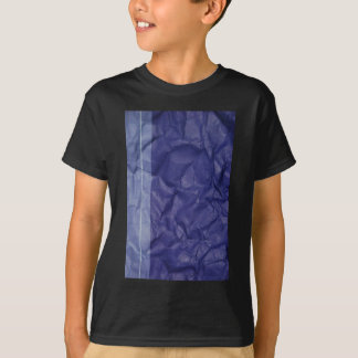 Crumpled indigo paper background design T-Shirt