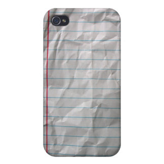 Crumpled Lined Paper Cover For iPhone 4
