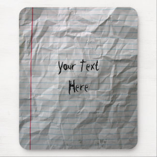 Crumpled Lined Paper Mouse Mat
