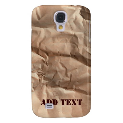 Crumpled paper. galaxy s4 cover
