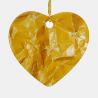 Crumpled paper design ceramic heart decoration