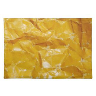 Crumpled paper design placemat