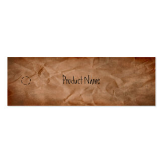 Crumpled Paper Hang Tag Business Card Templates