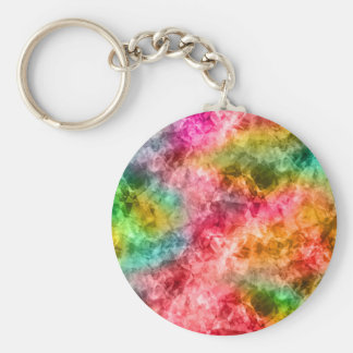 Crumpled Tropical Texture Key Ring