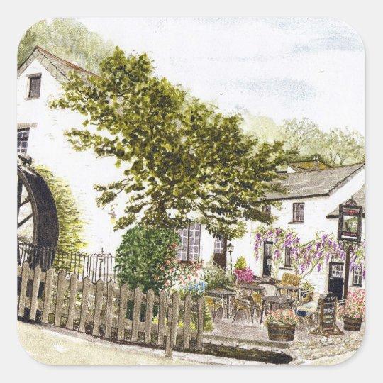 'Crumplehorn Inn' Square Sticker