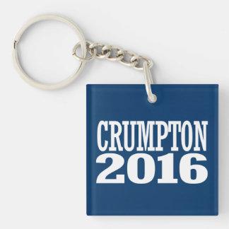 Crumpton - Ron Crumpton 2016 Double-Sided Square Acrylic Key Ring