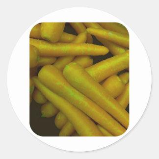 Crunchy Carrots Classic Round Sticker