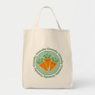 Crunchy Carrots Kawaii Grocery Tote Bag