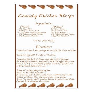 Crunchy Chicken Strips Postcard