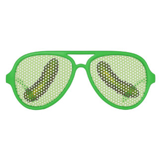 Crunchy Green Kosher Dill Pickle Deli Pickles Aviator Sunglasses